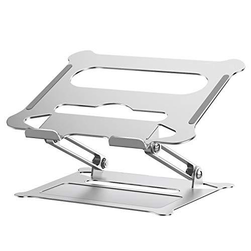 Sross Laptop Ständer Multi-Angle Laptopständer mit Heat-Vent, Aluminium Einstellbares Notebook Ständer Kompatibel für Laptop (11-17 Zoll) MacBook Pro/Air, Dell, Lenovo, Samsung, Huawei MateBook