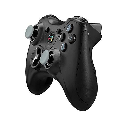 YAzNdom Gamepad Contrôleur De Jeu sans Fil Bluetooth Gamepad for Laser TV Smart TV Convient Aux Jeux (Color : Black, Size : 15.3x10.6x6.2cm)