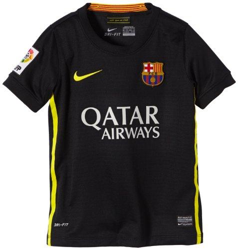 Nike FC Barcelona Junior Short Sleeve Third Replica Jersey [Black] (M)