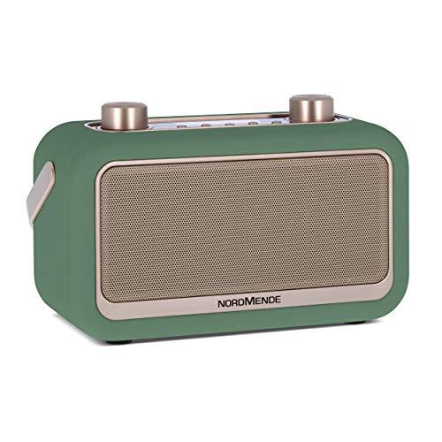 Nordmende Transita 30 – Radio digitale portatile (DAB+, UKW, streaming audio Bluetooth, sveglia, ora, memoria preferita, display LCD, jack per cuffie, 2 altoparlanti stereo da 3 Watt, colore: verde