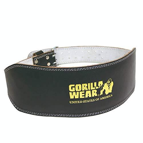 GORILLA WEAR Full Leather Padded Belt - schwarz - Bodybuilding und Fitness Gürtel für Damen und Herren, S/M