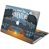 Cavka Vinyl Decal Skin for Apple MacBook Pro 13' 2019 15' 2018 Air 13' 2020 Retina 2015 Mac 11' Mac 12' Graphic Laptop Forest Cute Adventure Sticker Print Protective Travel Design Trendy Cover Tents