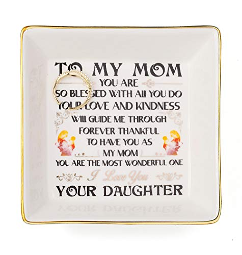 Joycuff for Mom from Daughter Son-to My Mom-DecorativeTrinkets Home Decor Jewelry Dish Mom Ring Dish Jewelry Tray