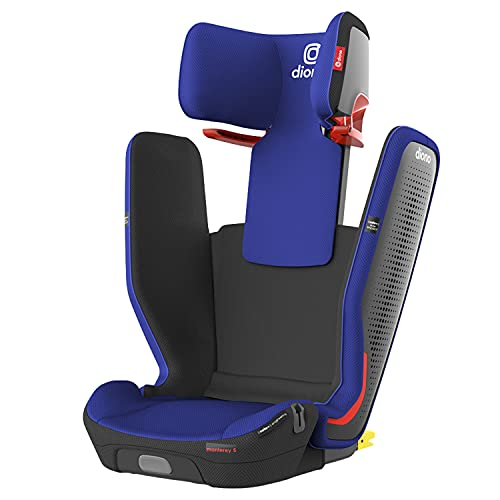 Diono Monterey 5iST FixSafe Rigid Latch High Back Booster Car Seat with Expandable Height and Width, Compact Fold to Full Size Booster in Seconds, Foldable, Portable Booster for Go-Anywhere Travel