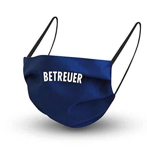 Fan-Omenal Textil Diseño Behelfsmaske en Azul Oscuro con Zertifizierten Fibra Húmeda Interior-Betreuer-15853