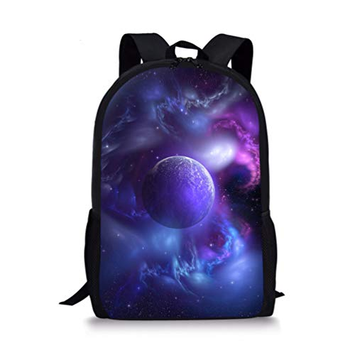 Showudesigns Kids Backpack Space Universe Print Girls Boy School Bags 9-11 Year Old Children Bookbag with Zipper