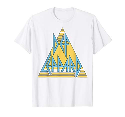 Def Leppard Yellow and Blue Logo T-shirt for Men and Women in 5 Colours