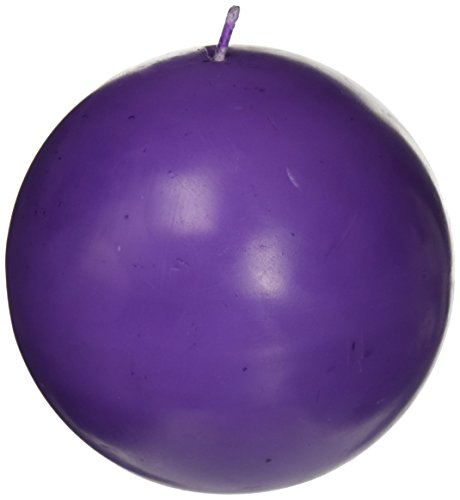 Zest Candle 2-Piece Ball Candles, 4-Inch, Purple