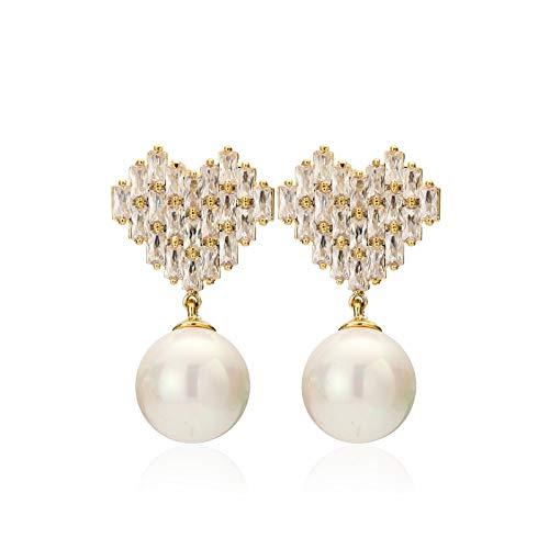 Pendientes de perlas pendientes de alta gama pendientes de moda lindos plata de ley femenina 2021 nueva red de moda rojo todo fósforo