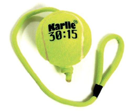 Mhlan Zoobedarf Karlie Tennisball mit Seil, Spielzeug fr Hunde und Katzen, Ball