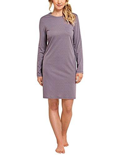 Schiesser Damen Selected Premium Sleepshirt 1/1 Arm, 95cm Nachthemd, Braun (Nougat 309), 42 (Herstellergröße: 042)