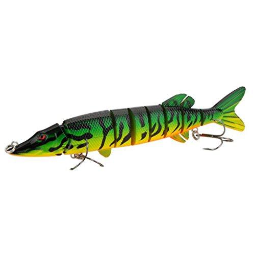 Pike Muskie Fishing Lure 8'' 20cm 66g Lifelike Multi-Jointed...