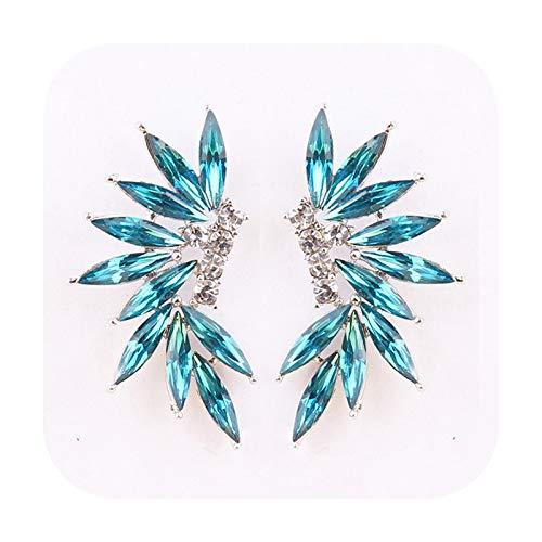Pendientes: alas coloridas de cristal acrílico para mujer, pendientes de boda, a la moda, regalo de Navidad