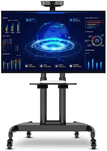 YaGFeng Carro LCD Giratorio Base de Soporte de TV Móvil Pulgadas Móvil Rueda de Encimera DVD Armario Superior Piso de Almacenamiento Rodante Piso Monitor en Vivo Universal