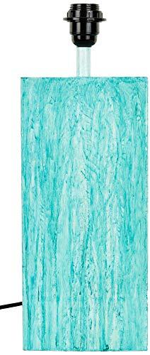 Better & Best 2313141 Lámpara de sobremesa cuadrada en metal esmaltado azul turquesa de metal