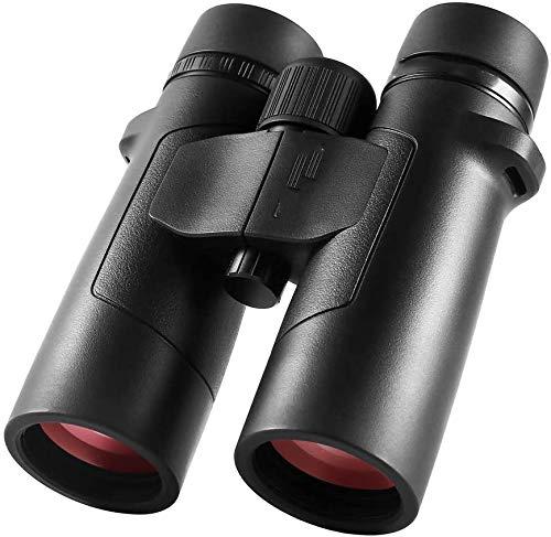 Mini prismáticos de 8 x 42 para adultos, prismáticos profesionales de alta definición, visión clara y débil, lente FMC de prisma BAK4 para ver deportes al aire libre, juegos y conciertos, viajes, neg