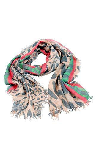 collezione alessandro Leosjaal Trendborg Made in Italy met strepen in rood-groen 200cm x 70cm
