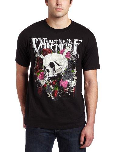 Bravado Men's Bullet For My Valentine - Skull and Roses T-Shirt, Black, XX-Large