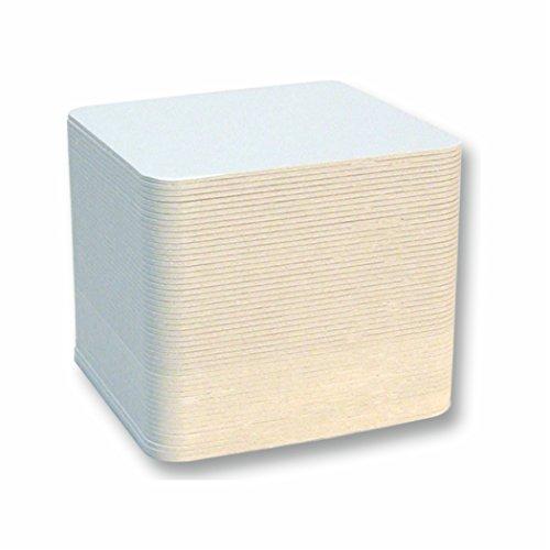 Bierfilze eckig/quadratisch 9,3x9,3cm 100 Stück blanco unbedruckt zum bemalen und basteln
