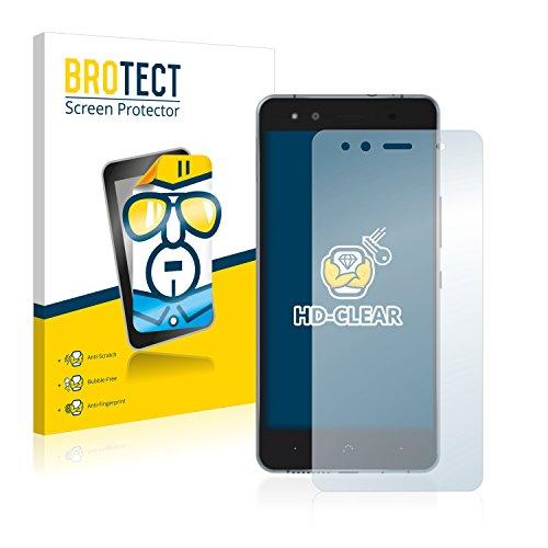 BROTECT Schutzfolie kompatibel mit BQ Aquaris X5 Cyanogen (2 Stück) klare Bildschirmschutz-Folie