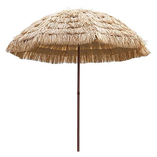 SYGSZF Sombrillas de Exterior, sombrillas de Paja Artificial, sombrillas de Patio de Ocio, sombrillas Plegables a Prueba de Sol de Playa, decoración de Patio, sin Base