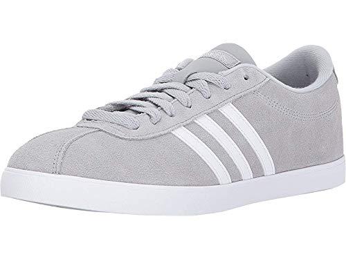 adidas Women's Shoes   Courtset Sneakers, Light Onix/White/Metallic Silver, (7.5 M US)