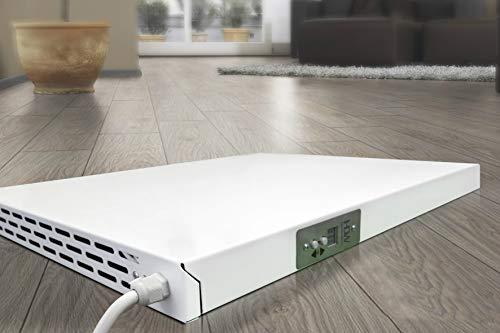 Infrarotheizung 350 600 800 1000 W Konvektionsheizung mit Thermostat (350W / 525x400x40 mm)