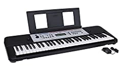 Includes the YPT 260 61 key portable keyboard and PA130 power adapter 400 voices, 130 auto accompaniment styles with backing tracks, and 112 onboard songs Note: This item does not advertise a USB connection Yamaha Education Suite with 9 step lesson f...