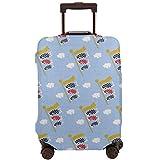 こいのぼり1 スーツケースカバー 伸縮素材 トラベルダストカバー キャリーカバー 可愛風 スーツケース保護カバー ラゲッジカバー お荷物カバー 通気性 傷防止 防塵カバー 洗える 出張 旅行 1枚