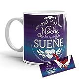 Kembilove Taza de café para Pareja de Enamorados - Taza No Hay Noche en la Que no te sueñe Regalo Original para Novios y Novias San Valentín - Taza de Desayuno para Parejas, Aniversarios