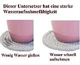 Anicoll Untersetzer für Getränke, handgefertigte geflochtene Glasuntersetzer(4,3 Zoll, rund, 8 mm dick), Superabsorbierende hitzebeständige Untersetzer für Getränke, Bar, Glas, tolles Geschenk - 3