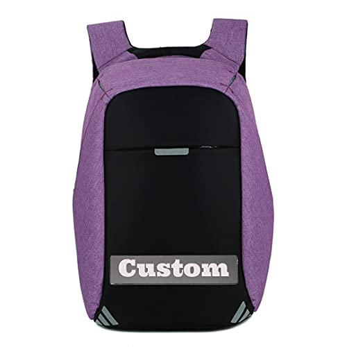 Mochila de Nombre Personalizada para niñas Viajes de Viaje Laptop Gaming 17 portátil para Profesional (Color : Zihongse, Size : One Size)
