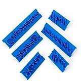 Yesiidor 6 piezas de letras de escritura a mano para galletas en relieve, para uso en el hogar