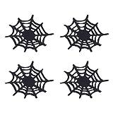 ABOOFAN 4PCS Uso de la Cocina en el hogar Práctico tapete Antideslizante Spider Net Forma Coaster Uso del automóvil Uso Diario en el hogar Almohadilla de Silicona