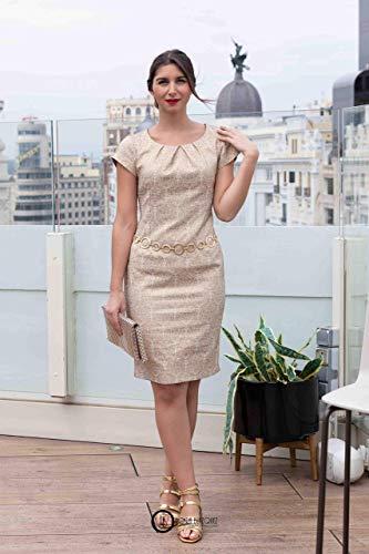 Wykrój damska brokat sukienka z filmu na niemieckim youtube. Rozmiar 40-52