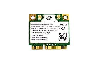 5DVH7 - Intel Centrino Wireless-N 2230 WLAN WiFi 802.11 b/g/n + Bluetooth Half-Height Mini-PCI Express Card - 5DVH7