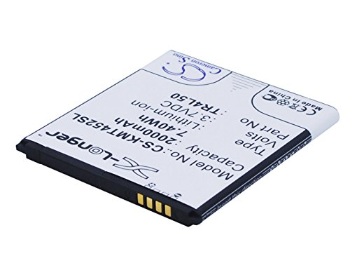 CS-KMT452SL Batería 2000mAh Compatible con [KAZAM] Trooper 450L, Trooper 450L Dual SIM sustituye TR4L50, TR4L50-CBCMB10001885