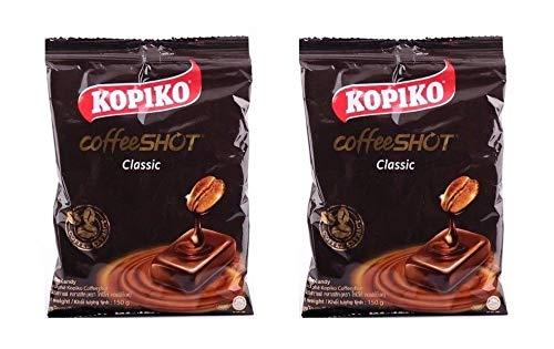 Pamai Pai® Doppelpack: 2 x 150g Kopiko Kaffee Bonbons Kaffeebonbons Koffein Thai
