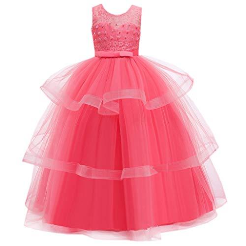 LuckyGirls Élégante Petite Fille Robes Princesse Robe De Soirée De Mariage Filles Enfants Robes Fête Cérémonie Casual Robe sans Manches