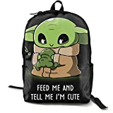 I'M Baby Yoda - Mochila antirrobo para portátil para hombre y mujer