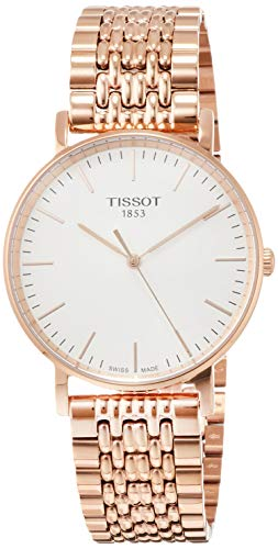 Tissot Herren Analog Quarz Everytime Medium Armbanduhr mit Edelstahl Armband T1094103303100