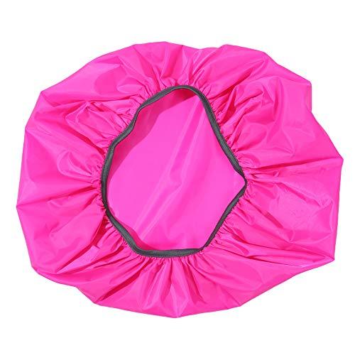 EMFGJ Mochila con ruedas para la lluvia, de alta capacidad, resistente al agua, protección para equipaje, escuela, viajes, portátil, color rojo rosa