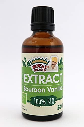 BIO Extrait naturel de vanille bourbon de Madagascar x 50 ml Royal Brand