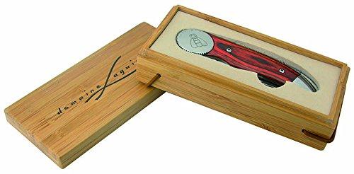 LAGUIOLE - Couteau Pliant manche en bois de pakka - Coffret Bois de Bambou - Couteau pliant pour usage quotidien - Coffret cadeau - acier inoxydable, bois de pakka, bois de bambou - Marron