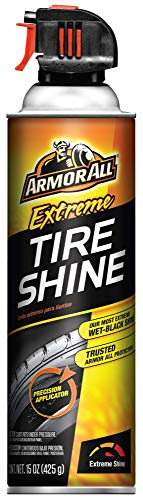 Armor All 77958 Extreme Tire Shine, Wet, Black Wheel Shine, Aerosol Spray 15oz
