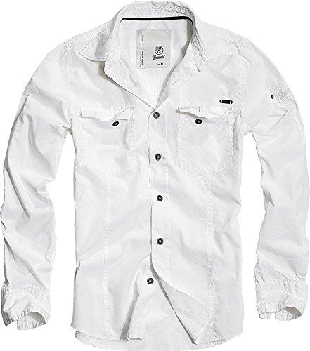 Brandit Men Slim Shirt Herren Hemd Weiss L