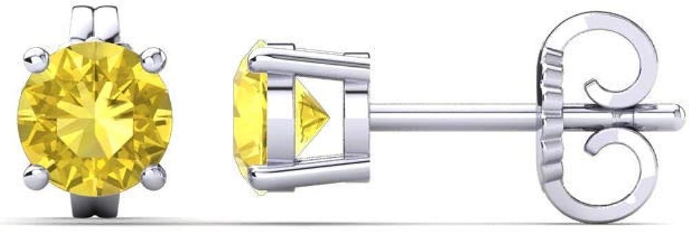 Silvercartvila 3mm-9mm Round Cut D Sapphire 2021 Max 51% OFF VVS1 Diamond Yellow