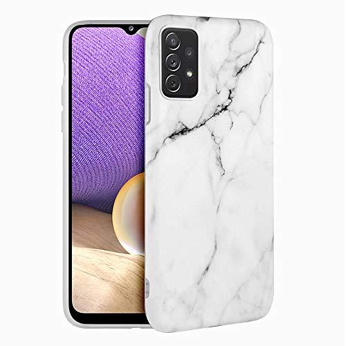 Funda para Samsung Galaxy A32 5G Carcasa Mármol Suave Silicona, E-Lush...