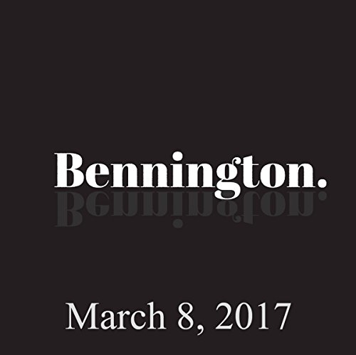 Bennington, Ricky Velez, March 8, 2017 audiobook cover art
