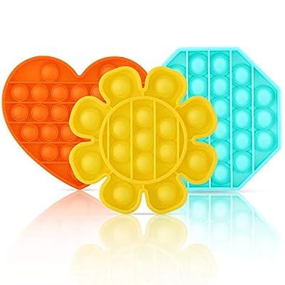 3 Pack Push Pop Bubble Sensory Fidget Toy Autis...